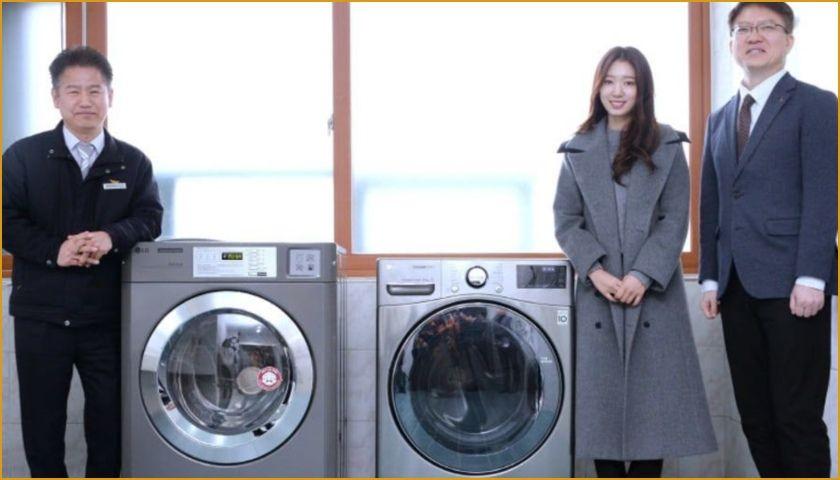 Park Shin Hye, dona lavadoras a los bomberos.