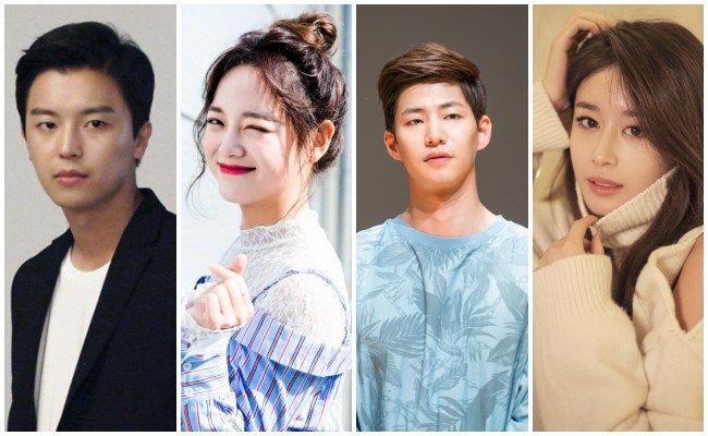 """Yeon Woo-Jin, Kim Se-Jeong y Song Jae-Rim, Park Ji-Yeon. protagonistas de """" Let Me Hear Your Song """"."""