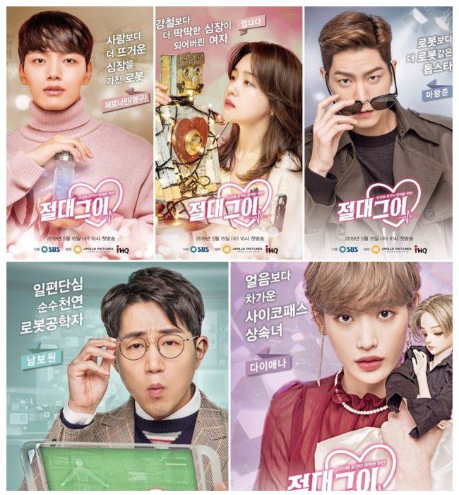 Los actores principales y de reparto del drama My Absolute Boyfriend.