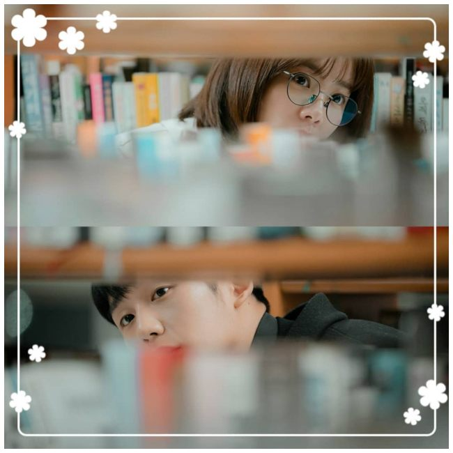 "Han Ji Min y Jung Hae In en ""One Spring Night""."