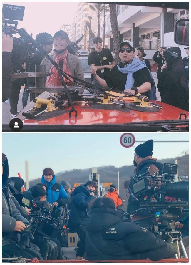 El equipo de filmación y producción de Vagabond.